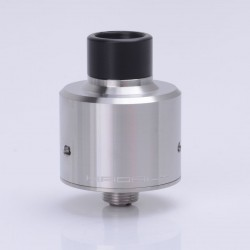 Hadaly Style RDA Rebuildable Dripping Atomizer w/ Bottom Feed Pin by Same Factory as ShenRay - Silver, 316 Stainless Steel, 22mm