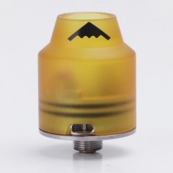 Firefly Style RDA Rebuildable Dripping Atomizer w/ Bottom Feeder Pin - Brown, PEI + Stainless Steel, 22mm Diameter
