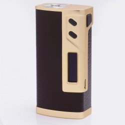 Authentic Sigelei 213W TC Temperature Control VW Variable Wattage Box Mod - Golden + Red Leather, 10~213W, 2 x 18650