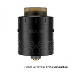 Authentic GeekVape Medusa RDTA Rebuildable Dripping Tank Atomizer - Black, Stainless Steel, 3ml, 25mm Diameter