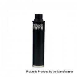 Apocalypse GEN 2 Style Mechanical Mod + RDA Rebuildable Dripping Atomizer Kit - Black, Aluminum, 1 x 18650, 24mm Diameter