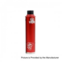 Apocalypse GEN 2 Style Mechanical Mod + RDA Rebuildable Dripping Atomizer Kit - Red, Aluminum, 1 x 18650, 24mm Diameter