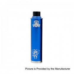 Apocalypse GEN 2 Style Mechanical Mod + RDA Rebuildable Dripping Atomizer Kit - Blue, Aluminum, 1 x 18650, 24mm Diameter