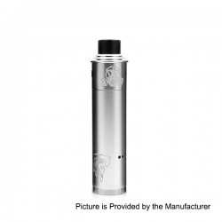 Apocalypse GEN 2 Style Mechanical Mod + RDA Rebuildable Dripping Atomizer Kit - Silver, Aluminum, 1 x 18650, 24mm Diameter