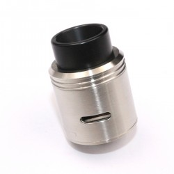Kryten Style RDA Rebuildable Dripping Atomizer w/ Bottom Feeder Pin - Silver, 316 Stainless Steel, 24mm Diameter