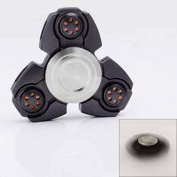 Tri-Spinner Hand Fidget Spinner Focus Toy EDC - Gun Color, Aluminum, 608 Ceramic Bearings