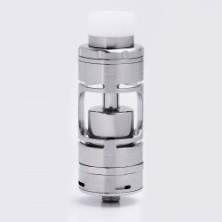 ShenRay SR V4 Style RTA Rebuildable Tank Atomizer - Silver, Stainless Steel + Glass, 45ml, 23mm Diameter