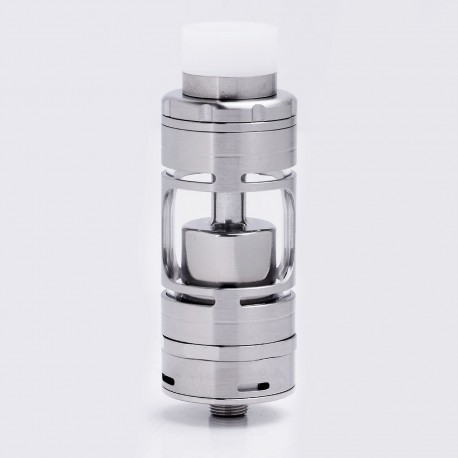ShenRay SR V4 Style RTA Rebuildable Tank Atomizer - Silver, Stainless Steel + Glass, 4.5ml, 23mm Diameter