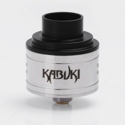 Kabuki Style RDA Rebuildable Dripping Atomizer - Silver, Stainless Steel, 24mm Diameter
