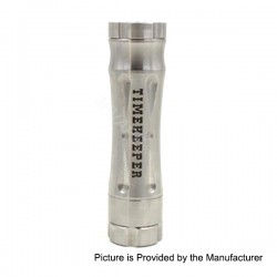 Avid Lyfe Revolver Timekeeper Time Keeper Style Mechanical Mod - Silver, Stainless Steel, 1 x 18650