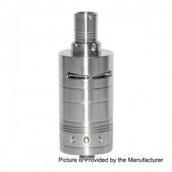 Phenomenon ZEST V2 Style RTA Rebuildable Tank Atomizer - Silver, Stainless Steel, 22mm Diameter