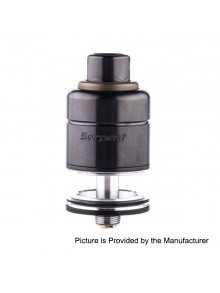 Authentic Wotofo Serpent RDTA Rebuildable Dripping Tank Atomizer - Black, Stainless Steel + Glass, 4.0ml, 22mm Diameter