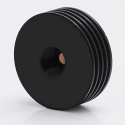 510 Heat Dissipation Heat Sink for Atomizers - Black, Stainless Steel, 22mm Diameter