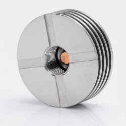 V2 510 Heat Dissipation Heat Sink for Atomizers - Silver, Stainless Steel, 22mm Diameter