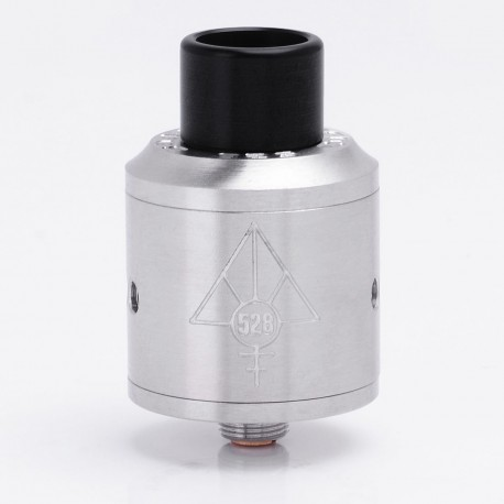 Authentic 528 Custom GOON RDA Rebuildable Dripping Atomizer - Silver, Stainless Steel, 24mm Diameter