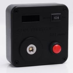 Authentic Coil Master 521 Mini Tab Resistance Tester Coil Rebuilding Deck - Black, 0.1~9.9 ohm, 1 x 18650