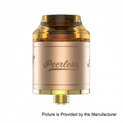 Authentic GeekVape Peerless RDA Rebuildable Dripping Atomizer - Gold, Stainless Steel, 24mm Diameter