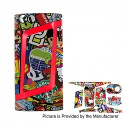 Self-adhesive Skin Sticker Wrap Cover for SMOKTech SMOK Alien Mod - Multicolored, PVC, Type 02
