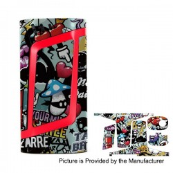 Self-adhesive Skin Sticker Wrap Cover for SMOKTech SMOK Alien Mod - Multicolored, PVC, Type 03