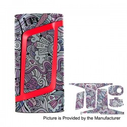 Self-adhesive Skin Sticker Wrap Cover for SMOKTech SMOK Alien Mod - Multicolored, PVC, Type 22