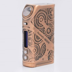 Authentic Tesla Nano 120W TC VW Variable Wattage APV Box Mod - Copper, Zinc Alloy, 7~120W, 2 x 18650