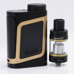 Authentic SMOKTech SMOK Alien Baby-AL85 85W TC VW box Mod + TFV8 Baby Beast Tank Kit - Champagne Gold, 1~85W, 1 x 18650