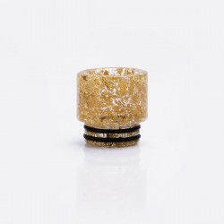 Sequined Resin Drip Tip for SMOK TFV12 / TFV8 / TFV8 Bi Baby - Gold, 16mm