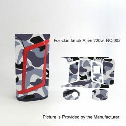 Self-adhesive Skin Sticker Wrap Cover for SMOKTech SMOK Alien Mod - Multicolored, PVC, No.002