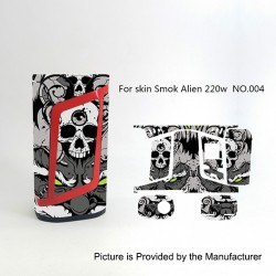 Self-adhesive Skin Sticker Wrap Cover for SMOKTech SMOK Alien Mod - Multicolored, PVC, No.004