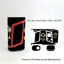 Self-adhesive Skin Sticker Wrap Cover for SMOKTech SMOK Alien Mod - Multicolored, PVC, No.005
