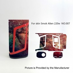 Self-adhesive Skin Sticker Wrap Cover for SMOKTech SMOK Alien Mod - Multicolored, PVC, No.007