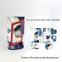 Self-adhesive Skin Sticker Wrap Cover for SMOKTech SMOK Alien Mod - Multicolored, PVC, No.008