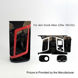 Self-adhesive Skin Sticker Wrap Cover for SMOKTech SMOK Alien Mod - Multicolored, PVC, No.011