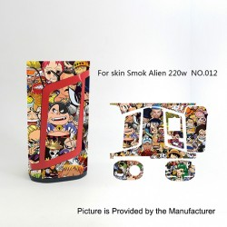 Self-adhesive Skin Sticker Wrap Cover for SMOKTech SMOK Alien Mod - Multicolored, PVC, No.012