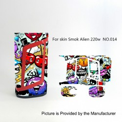 Self-adhesive Skin Sticker Wrap Cover for SMOKTech SMOK Alien Mod - Multicolored, PVC, No.014