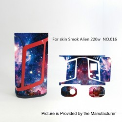 Self-adhesive Skin Sticker Wrap Cover for SMOKTech SMOK Alien Mod - Multicolored, PVC, No.016