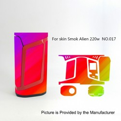 Self-adhesive Skin Sticker Wrap Cover for SMOKTech SMOK Alien Mod - Multicolored, PVC, No.017