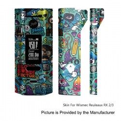 Self-adhesive Skin Sticker Wrap Cover for Wismec Reuleaux RX2/3 Mod - Multicolored, PVC, Type 11