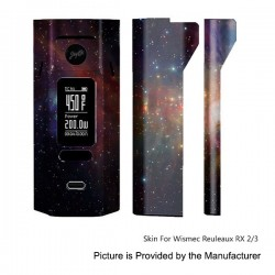 Self-adhesive Skin Sticker Wrap Cover for Wismec Reuleaux RX2/3 Mod - Multicolored, PVC, Type 15