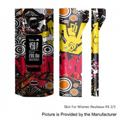 Self-adhesive Skin Sticker Wrap Cover for Wismec Reuleaux RX2/3 Mod - Multicolored, PVC, Type 17