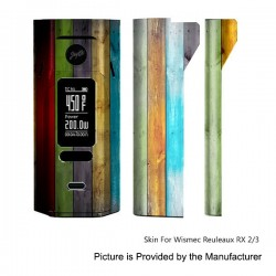 Self-adhesive Skin Sticker Wrap Cover for Wismec Reuleaux RX2/3 Mod - Multicolored, PVC, Type 22