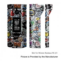 Self-adhesive Skin Sticker Wrap Cover for Wismec Reuleaux RX2/3 Mod - Multicolored, PVC, Type 24