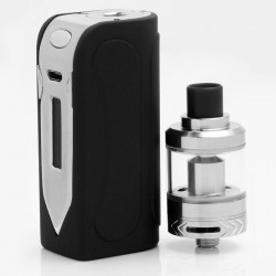 Authentic SXK Nebula Sword 50W 1500mAh TC VW Variable Wattage Mod + Scabbard Tank Kit - Black, Stainless Steel, 1~50W