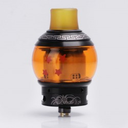 Authentic Fumytech Dragon Ball Rebuildable Dripping Tank RDTA - Yellow, Stainless Steel, 4.0ml, 24mm Diameter