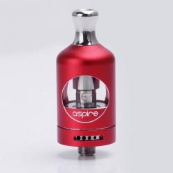 Authentic Aspire Nautilus 2 Tank Atomizer Clearomizer - Red, Aluminum + Glass, 2ml, 0.7 Ohm, 22mm Diameter