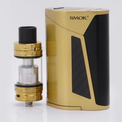 Authentic SMOKTech SMOK GX350 350W TC VW Box Mod w/ TFV8 Cloud Beast Tank Full Kit - Black + Golden, 220W / 350W, 4 x 18650