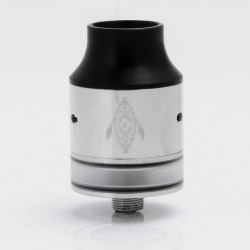 Panglao Style RDTA Rebuildable Dripping Tank Atomizer - Silver, Stainless Steel, 24mm Diameter
