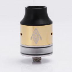 Panglao Style RDTA Rebuildable Dripping Tank Atomizer - Gold, Stainless Steel, 24mm Diameter