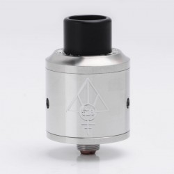 Kindbright Goon Style RDA Rebuildable Dripping Atomizer w/ Wide Bore Drip Tip - Silver, Stainless Steel, 24mm Diameter