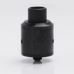 Kindbright Goon Style RDA Rebuildable Dripping Atomizer w/ Wide Bore Drip Tip - Black, Stainless Steel, 24mm Diameter